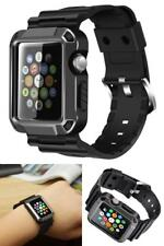 Apple Watch Series 3/2/1 Full Armor Case Cover Screen Protector Strap Band 42mm