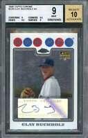 2008 topps chrome #229 CLAY BUCHHOLZ AU red sox rookie card BGS 9 (9 9.5 9.5 9)