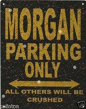 MORGAN PARKING METAL SIGN RUSTIC VINTAGE STYLE 8x10in 20x25cm garage