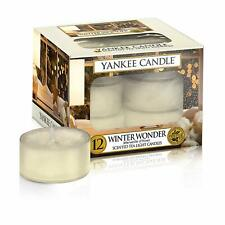 Yankee Candle Tealights Tea Lights Pack of 12 Winter Wonder In White NEW