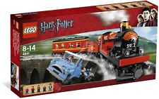 Brand New LEGO Harry Potter 4841 Hogwarts Express 6 Rare Minifigures Flying Car!