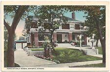 Home of Walt Mason in Emporia KS Postcard