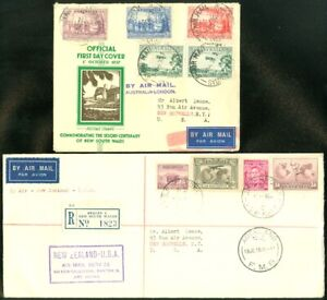 EDW1949SELL : AUSTRALIA 2 Nice Air Mail First Day covers or Registered covers