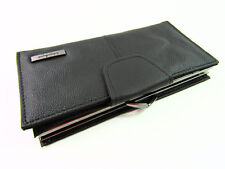 Ladies Womans Purse Premium Black Leather Large Purse Wallet Credit Card Holder