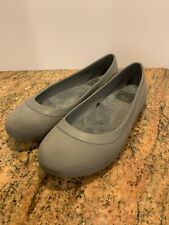 Crocs Mammoth Lined Flat Women's Size 7 Gray Slip On Ballet Shoes Walking Comfy