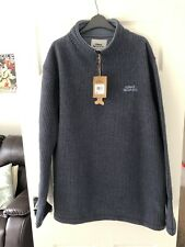 Weird Fish Men's Morle 1/4 Zip Neck Grid Fleece Dark Navy Blue Size XXL 2XL