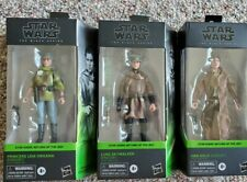 Star Wars Black Series lot Luke Skywalker Princess Leia Han Solo Endor in hand