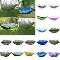 Outdoor Camping Mosquito Net Hammock Tent Chair Nylon Hanging Bed Sleeping Swing