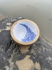 More details for shoal of fish nut bowl by shoeless joe mango ceramic coastal