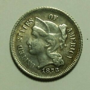 3 Cent Coin 1873 United States of America