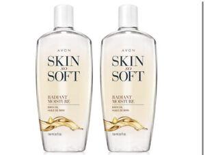 Avon Skin So Soft Radiant Moisture Bath Oil 25 Oz Lot of 2
