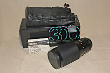 ZEISS CONTAX TELE-TESSAR 300mm 1:4 AEG LENS NEAR MINT IN BOX 7582