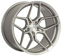 "20"" ROHANA RFX11 BRUSHED TITANIUM CONCAVE WHEELS FOR CADILLAC CTS CTS V ATS"