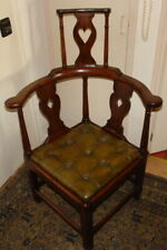 GEORGE III ASH&ELM HIGH CORNER CHAIR C.1780s