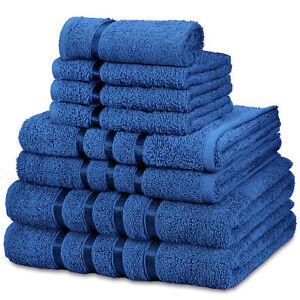8pc Towel Bale Set Luxury 100% Egyptian Cotton Bath Hand Face Bathroom Towels