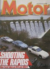Motor magazine 4/5/1985 featuring Lotus Excel, Porsche, Nissan 300ZX Turbo, Ford