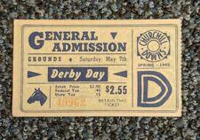 1949 Kentucky Derby Clubhouse GA Ticket Stub Churchill Downs Horse Race