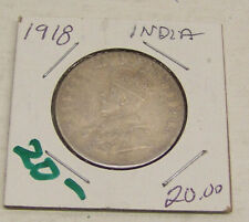 1918  Silver ONE Rupee - India #2
