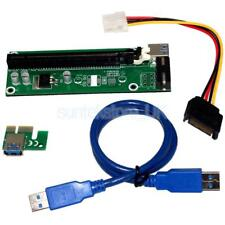 PCI-E Express 1x to 16x USB 3.0 Extender Riser Board Card Adapter SATA Cable