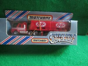 MATCHBOX CONVOY CY18 SCANIA DOUBLE CONTAINER TRUCK KITKAT (LOT Z10) BOXED