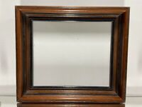 "VTG Aesthetic Eastlake Art's & Craft's Walnut Wood Picture Frame Fits 9 1/4""x11"""