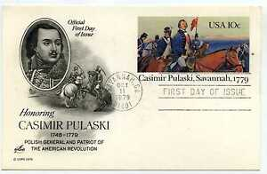 UX79 Casmir Pulaski, Savannah, 1779, ArtCraft, FDC