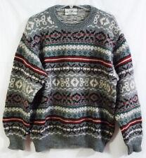 United Colors of Benetton Gray Fair Isle Shetland Wool Town Wear Knit Sweater