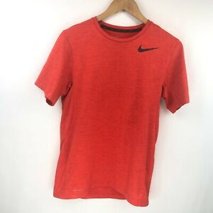 Nike Mens Burnt Orange Dri Fit Short Sleeve Shirt Size Small