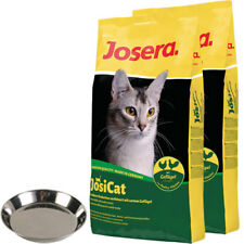 2 x 10 kg Josera JosiCat Geflügel + Katzennapf