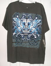 Boy's T-Shirt by Audio Council Size L,Gray Graphics Lion Wings Skateboard Shirt