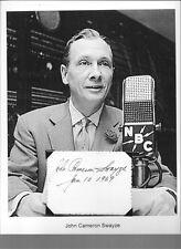 John Cameron Swayze Autograph News Anchor NBC ABC Game Show Panelist #1