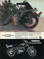 1970 Yamaha 360 RT-1 Enduro Motorcycle It's A Better Machine Print Ad