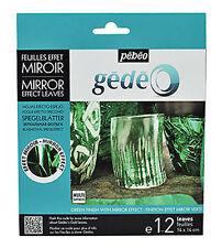 Pebeo Gedeo GOLD LEAF gilding FOIL finitura a specchio 12 fogli di colore in Verde