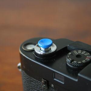 Blue Concave Small Soft Release Button for Leica MP M8 M9 Fuji X100 Nikon Canon