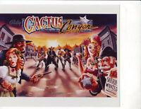 Cactus Canyon Bally Pinball Machine Press Photograph Original NOS Game Backglass