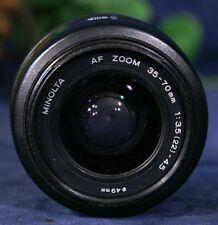MINOLTA AF Zoom 35-70mm f3.5(22)-4.5 Zoom Lens fits Minolta & Sony DIGITALS