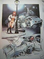 Affiche BD SERRE Accident 55x75