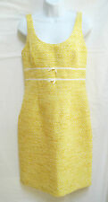 CMV CARMEN MARC VALVO Womens Yellow White Polka Dot  Mod Retro Pin Up Dress 8 M
