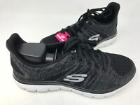 NEW! Skechers Women's Lace Up Walking Shoes Black/Charcoal #12634 182O tz