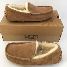 UGG Australia ASCOT Suede/Sheepskin Slippers Men US7 = Women US8 $110 Chestnt