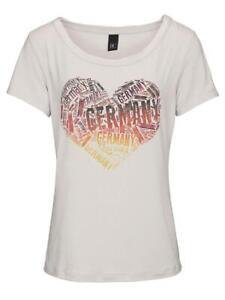 Damen Deutschland Druckshirt Germany T-Shirt Herz mein Stolz für die Damen