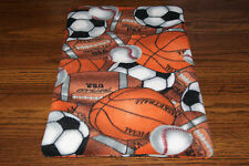 New Usa Team Sports Balls Fleece Dog Cat Pet Carrier Crate Blanket Free S/H! Bcr