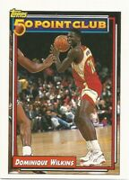 Dominique Wilkins 50 Point Club Topps 1992/93 - NBA Basketball Card #200