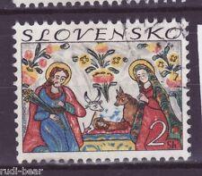 Slowakei Nr.  207  gest.  Weihnachten Heilige Familie Glasmalerei   -5