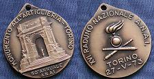 MEDAGLIA XVI° RADUNO ARTIGLIERI D'ITALIA 50° A.N.A.I. - ARTIGLIERIA TORINO 1973