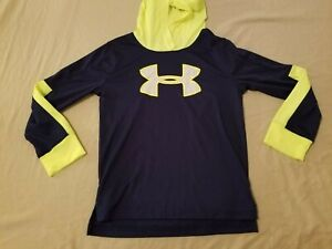 Boys Under Armour Hoodie Sweater 5 Navy Blue Athletic Gym Workout