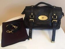 Mulberry Black Soft Leather Alexa Large Womens Buckle / Shoulder Strap Handbag