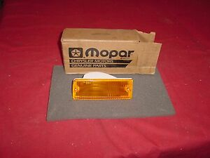 NOS 1982-1988 Dodge Daytona Front Parking Lamp Turn Signal Amber #4399763