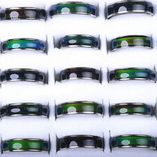 10Pcs Lots Wholesale Jewelery Bulks Mixed Change Color Silver Plated Mood Rings