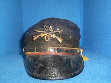 1875 Kepi, 24th Inf Co, Buffalo Soldier Hat, Worn in Battle! (ABA 12118)